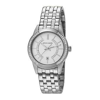 Pierre Cardin señoras reloj reloj de pulsera Dama de la TROCA de plata PC106582F05