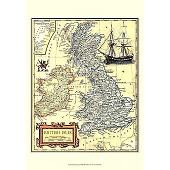 British Isles Map Poster Print by Vision studio (13 x 19)