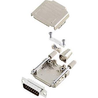 encitech DPPK15-M-DBP-K 6355-0004-02 D-SUB juego de tiras de pasador 180 - Número de pines: 15 Cubo de soldadura 1 Conjunto