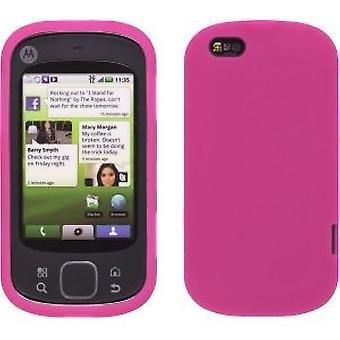 Pack 5 - Gel étui case Skin Silicone pour Motorola Cliq XT - pastèque rose