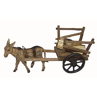 Nativity accessories stable Nativity set DONKEY carts Nativity scene wood cart