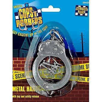 Kajdanki metalowe do niewoli kostium policji