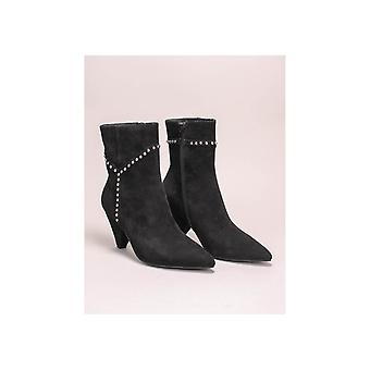 Sofie Schnoor Studded Cone Heeled Suede Pointed Boots