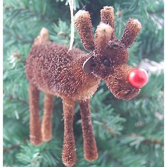 غراهام جيزيلا عيد الميلاد الديكور-الرنة الآنف الأحمر الشعر الخشن