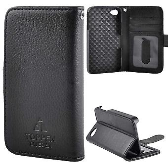 TOP left-handed wallet case for iPhone 4S, Black
