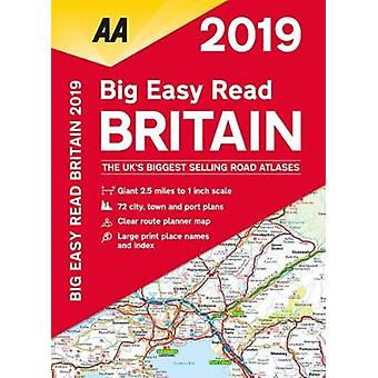 AA Big Easy Read Atlas Britain 2019 pela AA Publishing - 9780749579487