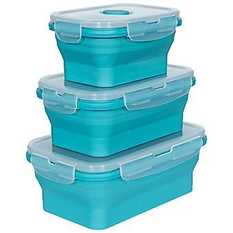 Trespass Lunchset silikone sammenklappelige kasser (sæt af 3)