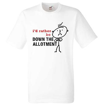Mens I'd Rather Be Down The Allotment White Tshirt
