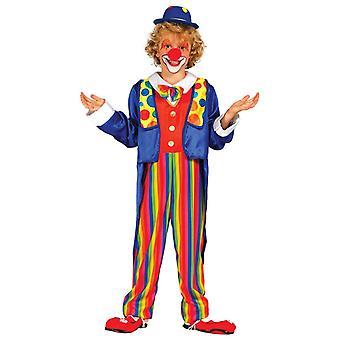 Boys Clown Circus Carnival Fancy Dress Costume