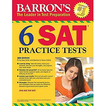 Barron's 6 SAT Practice Tests, 3rd Edition