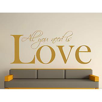 All You Need Wall Art Sticker - Gold