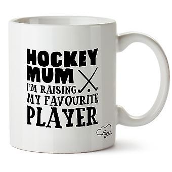 Hippowarehouse Hockey äiti otan minun suosikki pelaaja painettu muki Cup keraaminen 10oz