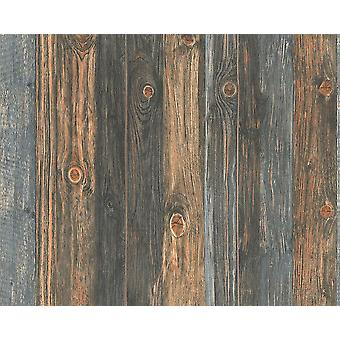 Hout Effect behang houten paneel graan realistische verdrietig Non-Woven