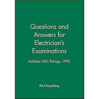 Domande e risposte per elettricisti esami include NEC sentenze 1993 da Rosenberg & Paul