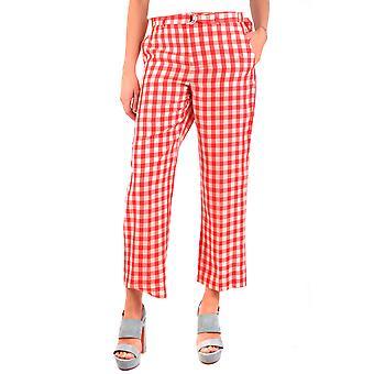 Red Valentino Ezbc026059 Women's Red Cotton Pants