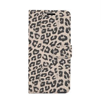 Samsung Galaxy S10 Monedero Caso Leopard Cover-Beige