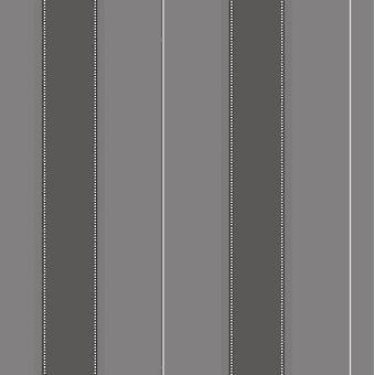 Bold Stripe Grey Charcoal Wallpaper Silver Metallic Shimmer Feature Rasch