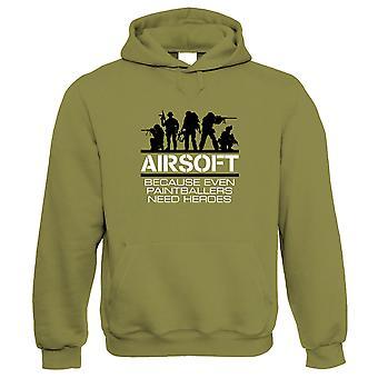 Airsoft Heroes, paintball grappige hoodie-Hobby's gift hem haar verjaardag