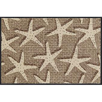 Salon lion doormat Starfish canvas 50 x 75 cm. washable dirt mat