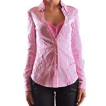 Frankie Morello Ezbc167056 Women's Pink Cotton Shirt