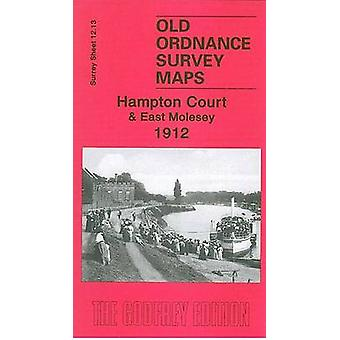 Hampton Court and East Molesey 1912 - Surrey Sheet 12.13 by Alan Godfr