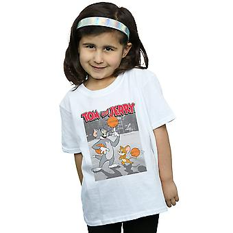 Tom And Jerry Girls Basketball Buddies T-Shirt
