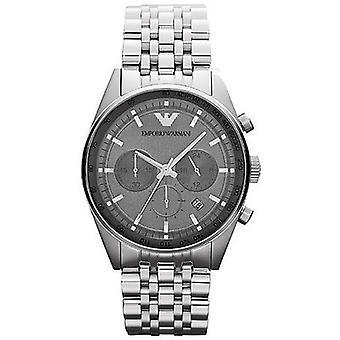 Relógio clássico de Emporio Armani Ar5998 de aço inoxidável dos homens escuros