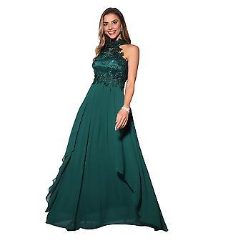 KRISP Lace Halterneck Maxi Dress