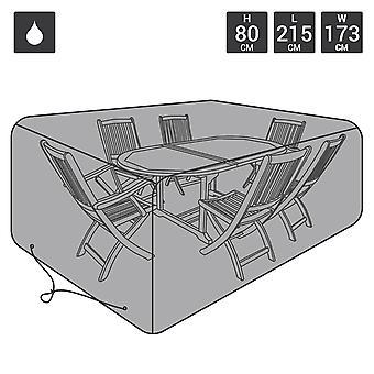 Charles Bentley Premium Rechteckgarniturin 6 Seat Möbel-Cover-schwarz