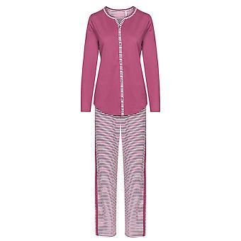 Rösch 1193517-16415 Women's Smart Casual Blush Pink Gestreepte Mix Cotton Pyjama Set