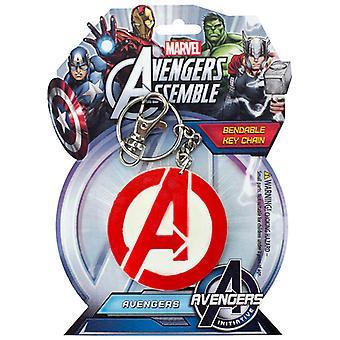 Sleutelhanger-Marvel-Avengers logo buigzaam nieuw speelgoed gelicentieerd krb-4606