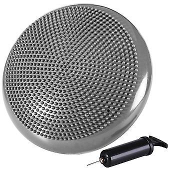 Kabalo grå stabilitet Disc wobble pude balance pad fitness tilbehør med gratis pumpe medfølger!