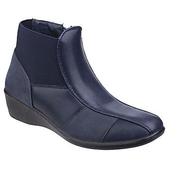 Fleet & Foster Womens Festa Ankle Boot Navy