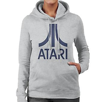Atari Navy Logo Women's Hooded Sweatshirt