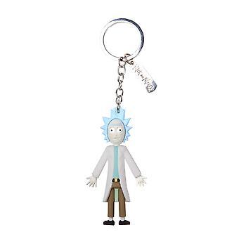 Rick și Morty keyring keychain 3D Rick wriggity naufragiat oficial Blue Rubber