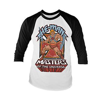 Masters Of The Universe Baseball Shirt He-Man Official Mens White Long Sleeve