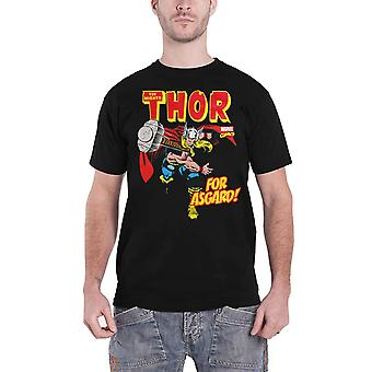 Thor T Shirt The Mighty Thor For Asgard retro new Official Marvel Comics Mens