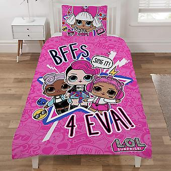 Surpresa de L.O.L!! LOL Sing It edvet conjunto cama reversível 135x200cm