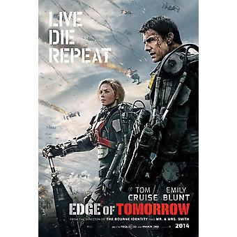 Edge Of Tomorrow Double Sided Original Movie Poster - Advance Style