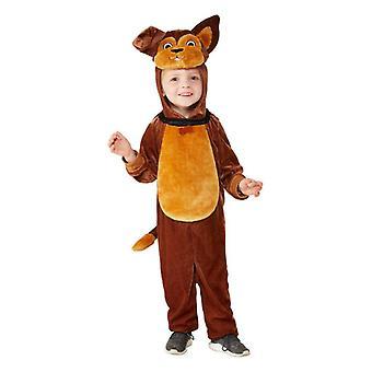 Småbarn søt brun hund Fancy kjole kostyme