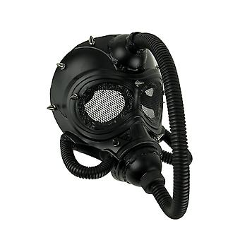 Black Spiked Submarine Diver Steampunk Adult Halloween Costume Mask