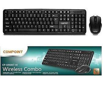CP-KM007-W Black Wireless Combo, Tastatur & Maus