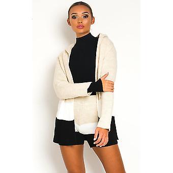 IKRUSH Womens Jaz knitted Jacket and Shorts Co-ord