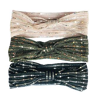 Jewelcity Womens/Ladies Shimmery Sequin Headscarves (Pack of 10)
