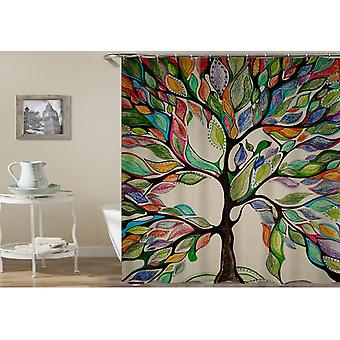 Rideau multicolore de douche d'arbre d'oeuvre