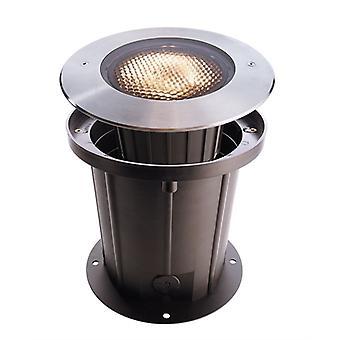 Lampa podłogowa LED wpuszczona COB 25 Miękka 3000K x 250mm srebrna IP67