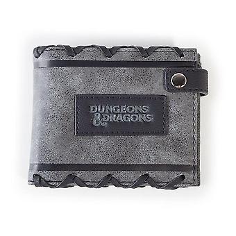Dungeons & Dragons logo imiteret læder bi-fold tegnebog mandlig grå/sort MW321707HSB