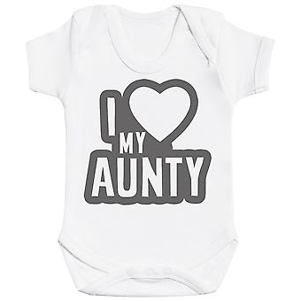 I Love My Aunty Black Outline Baby Bodysuit