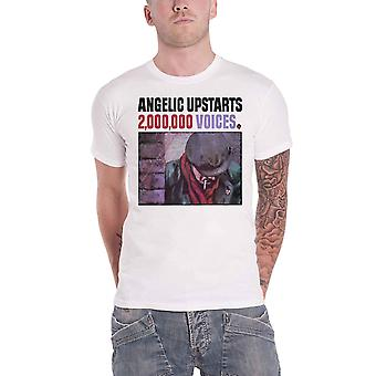 Angelic Upstarts T Shirt 2 000 000 Voices Band Logo new Official Mens White