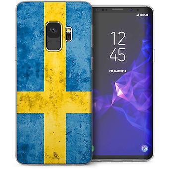 Samsung Galaxy S9 - Caseflex Elegant Shell -SwedishFlag